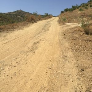 Dirt road up to the villa