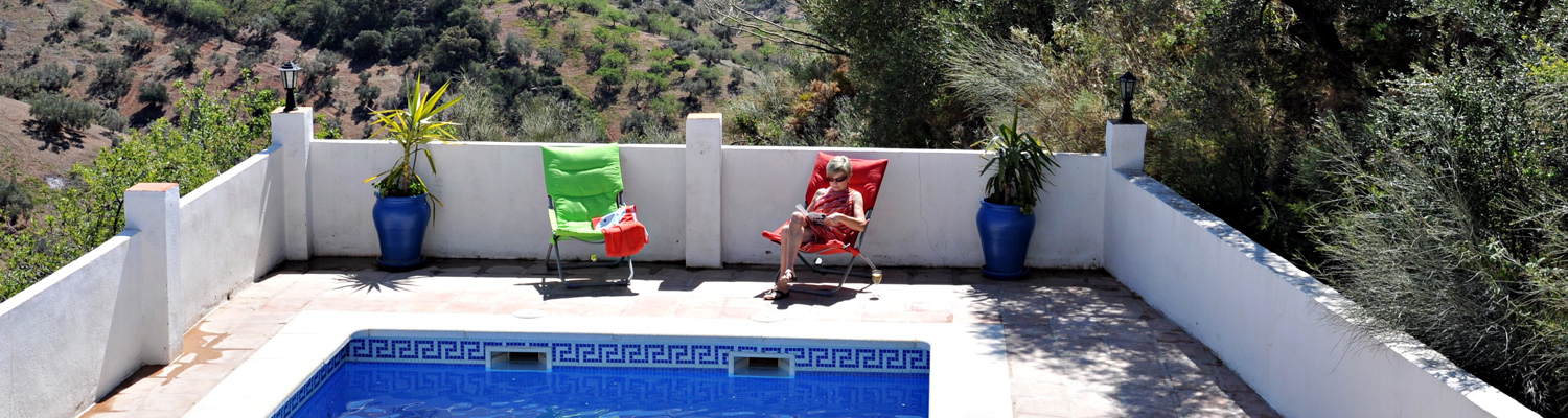 3. Reading and sunbathing by the pool